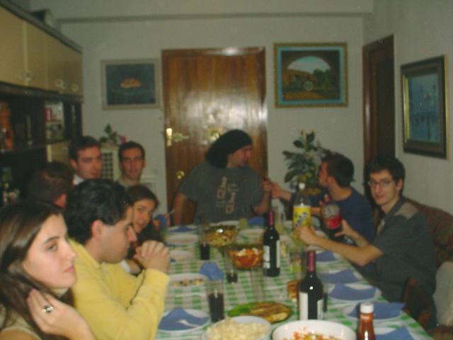 El inicio de la cena