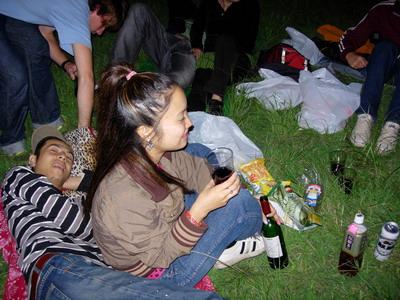 En la fiesta-botellon