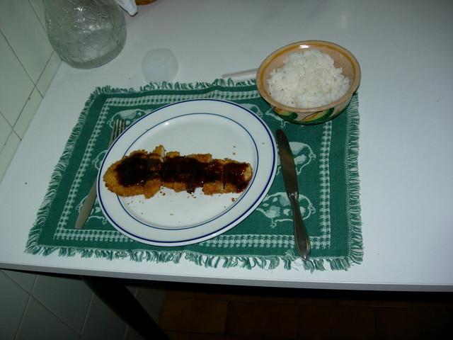 plato de tonkatsu
