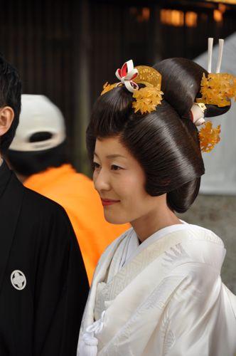 Peinado de boda japonés
